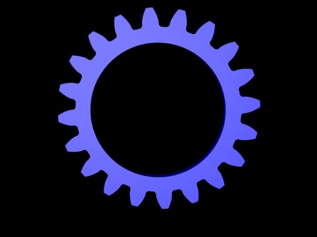 Blue Cogwheel