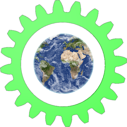 Earth Green cogwheel