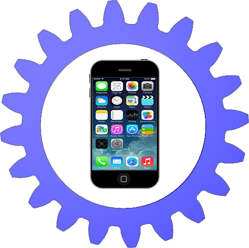 iphone Blue Cogwheel
