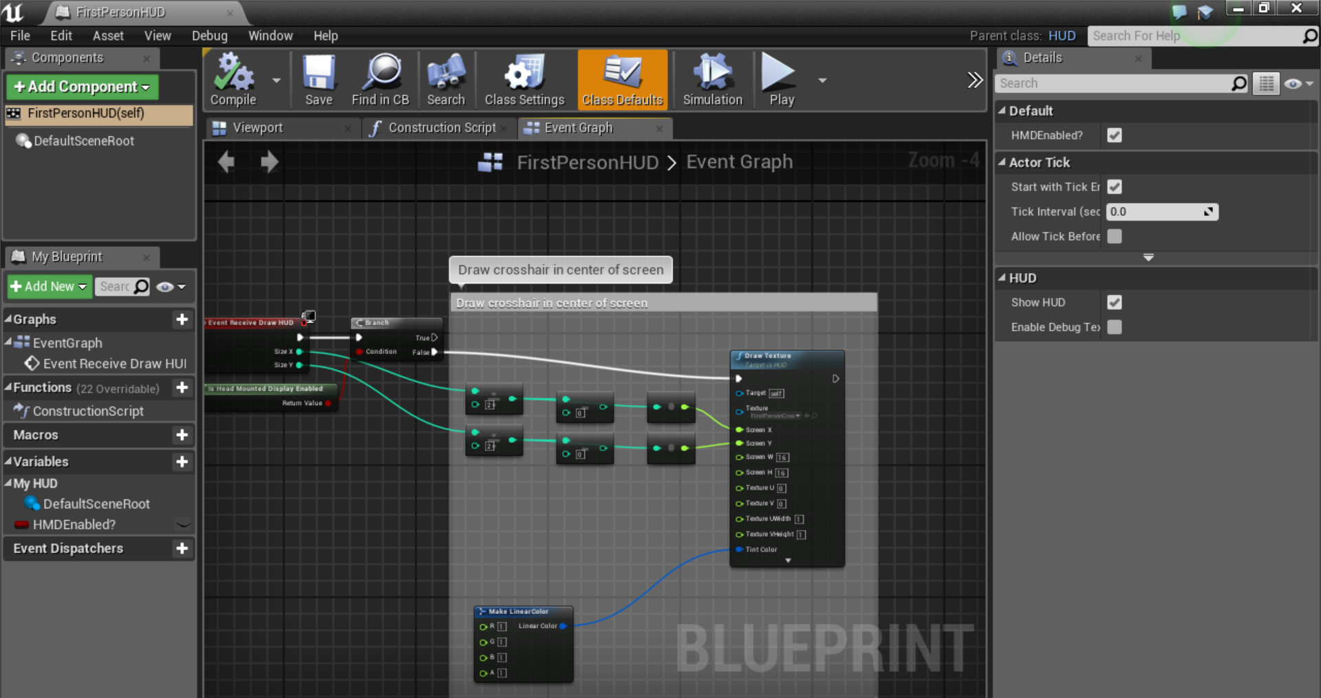 Get rid of gun in first person shooter in unreal engine 4 i created this blueprint to remove this text which kept appearing everytime i built something in unreal engine malvernweather Gallery